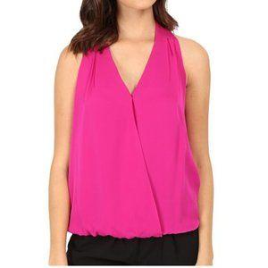 Joie Naya Sleeveless Silk Top Fuschia Pink XS